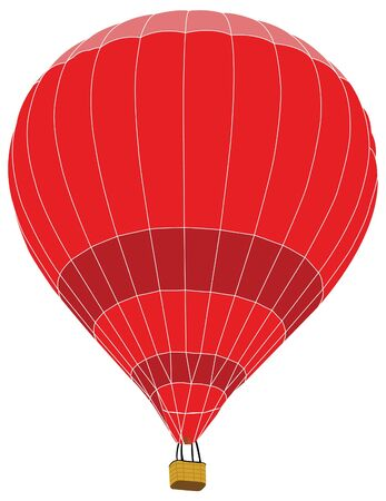 Hot Air Balloon for Transportation Concept, Vector Illustration  Vector