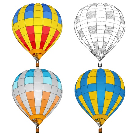 Hot Air Balloon for Transportation Concept, Vector Illustration EPS 10. Vector
