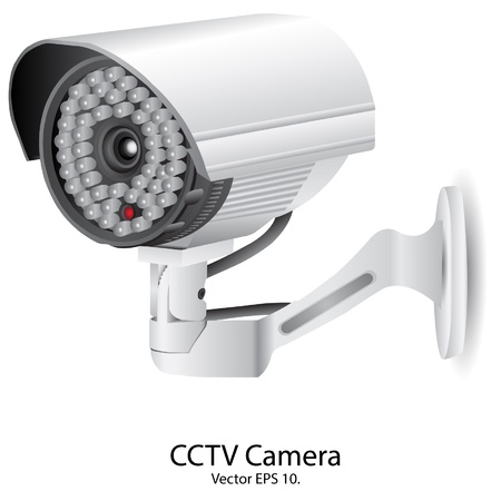 camera surveillance: Security Camera CCTV Vector Illustration