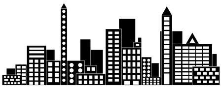 Paisaje urbano Ilustración vectorial