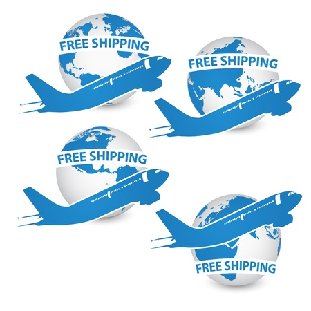 logo terre: Avion et de la terre logo