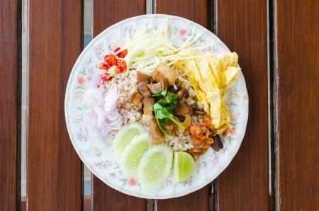 Pad Thai Food, Stir fry noodles with shrimp  photo