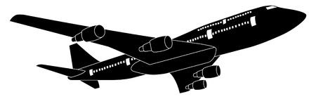 turbulence: Airplane Vector Illustration Illustration