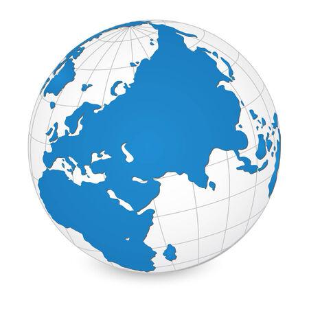 Carte du monde et détaillée Globe Vector Illustration Vecteurs