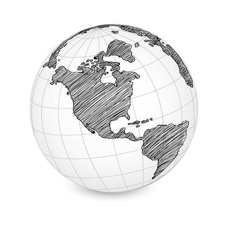 World Map Earth Globe  Vector