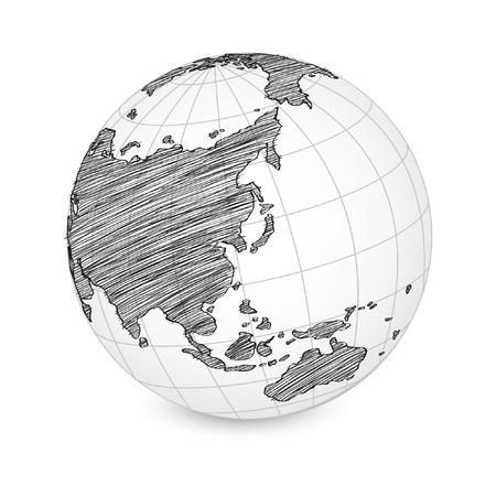 World Map Earth Globe  Illustration