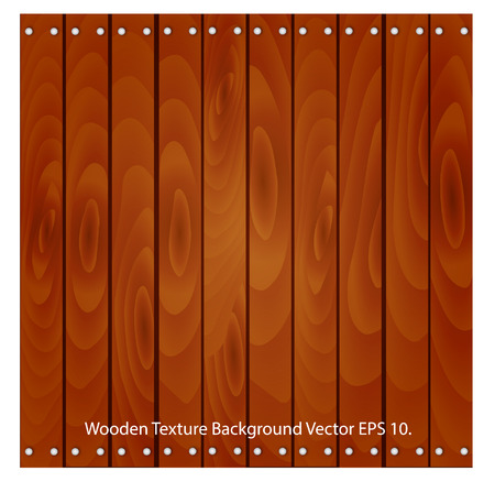 Wooden Texture Background Vector Illustrator, EPS 10  Vector