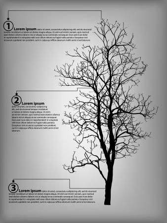 tree diagram: Infografica Schema di Dead albero senza foglie illustrazione vettoriale sketch, EPS 10