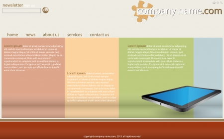 Website Template is Full Illustration,  Good for used for Business, Transportation and Technology Concept Vector