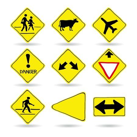 Doodle Traffic Signs, Vector Illustration EPS 10