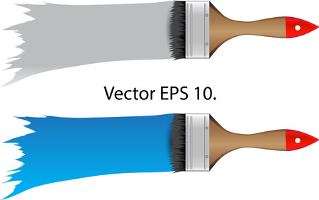 Paint Brush Vector Illustration, EPS 10  Vector