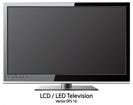 LCD LED TV vector illustratie, EPS-10
