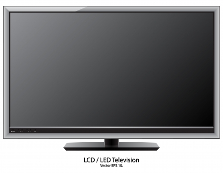 lcd display: LCD   LED TV Vector Illustration, EPS 10