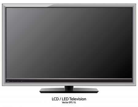 LCD   LED TV Vector Illustration, EPS 10