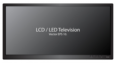 LED   LCD TV Vector Illustration, EPS 10  Vector