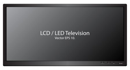 lcd screen: LED   LCD TV Vector Illustration, EPS 10