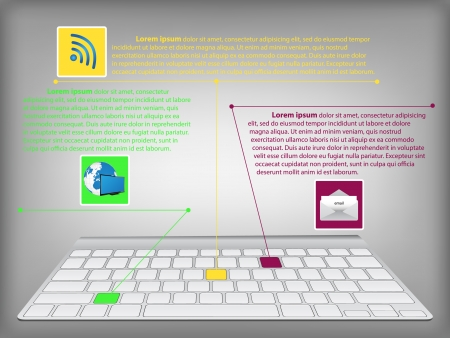 Infographic diagram with desktop keyboard technology and business infographic diagram with desktop keyboard technology and business concept vector illustration eps 10 stock ccuart Images