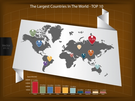 Detail of Infographic Vector Illustration, World Map and Information Graphics with Online Population in the World, Vector EPS 10  Vector