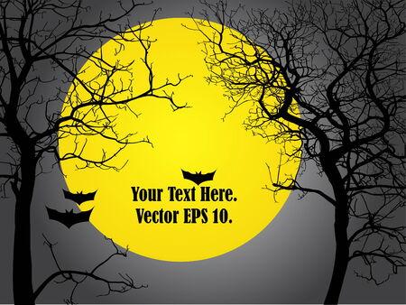 calabaza caricatura: Vector del �rbol muerto en el D�a de Halloween Illustrator, Vector