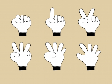 Doodle Hand Number 0, 1, 2, 3, 4, 5, Vector Illustration EPS 10  Vector