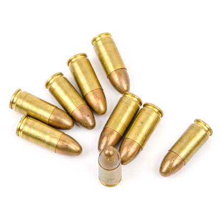 Golden Bullets isolated on the white
