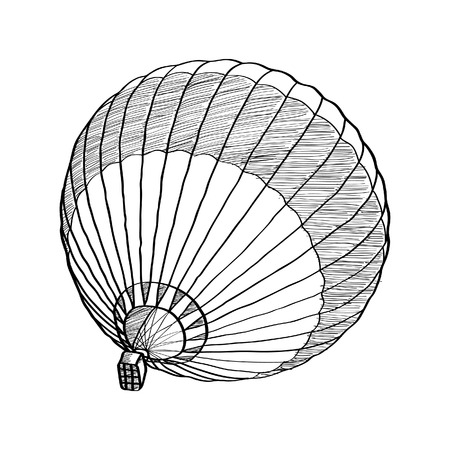 Doodle of Hot Air Balloon Vector Sketch Up line Vector