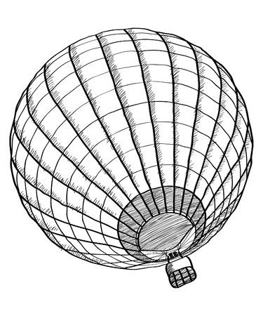 balon: Doodle of Hot Air Balloon Vector Sketch Up line, EPS 10