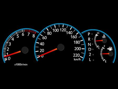 Speedometer Illustration Vector EPS 10 Vectores