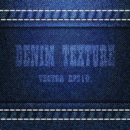 Blue Denim Texture Background, Vector EPS 10 Vector