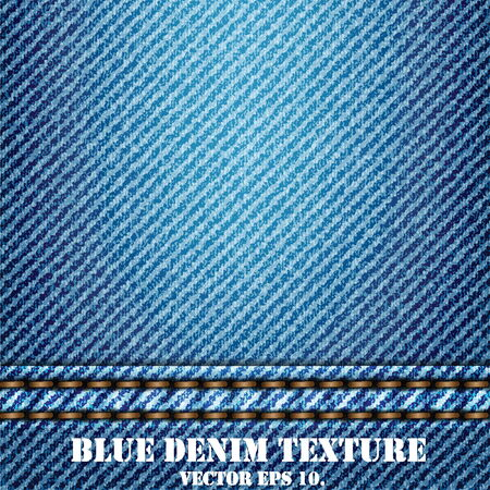 blue jeans: Blue Denim Texture Background, Vector EPS 10