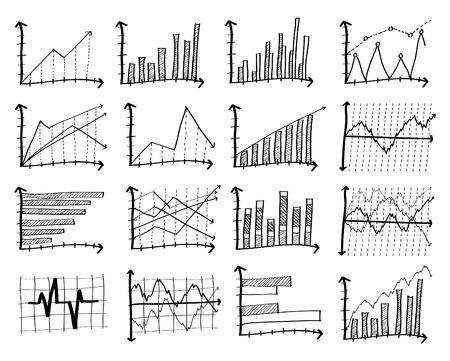 Doodle Finance Graph, Vector Illustration EPS 10 Vector