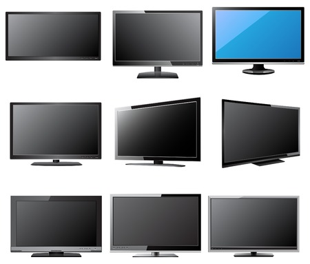 LCD   LED TV Vector Illustration, EPS 10