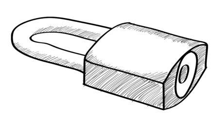 Doodle Padlock, Vector Illustration EPS 10. Vector