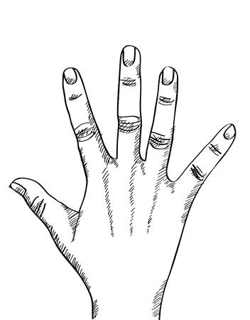 eps: Doodle Hand sketched up, Vector Illustration EPS 10. Illustration