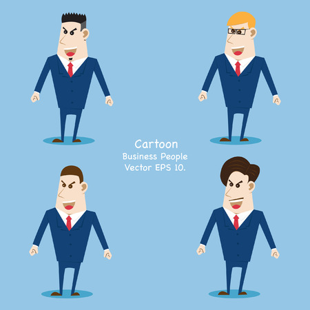 sparire: Concept with Business cartoon people, Vector Illustration EPS 10.