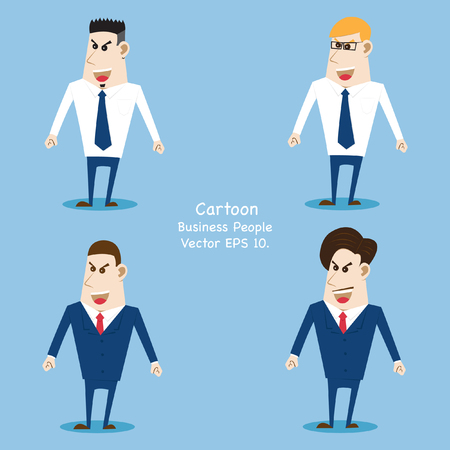 disappear: Concept with Business cartoon people, Vector Illustration EPS 10.