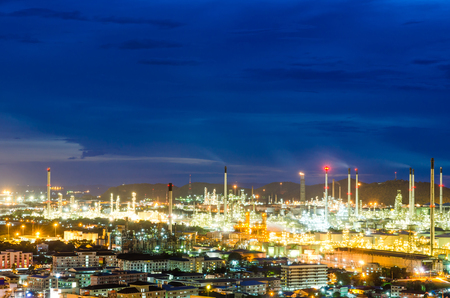 purify: Night scene of oil purify plant.