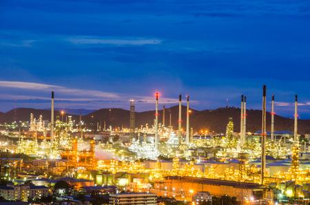 purify: Oil purify plant with blue sky. Stock Photo