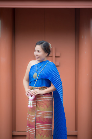 Thai women traditional Thai suit.