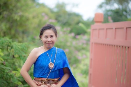 HI: Thai women traditional Thai suit.