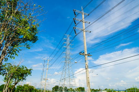 High voltage power pole with Blue Sky field in Estates Zone.