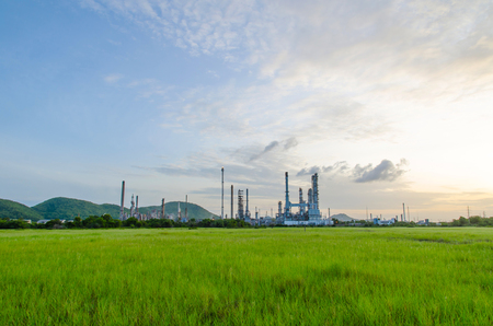 Oil purify plant. Stock Photo