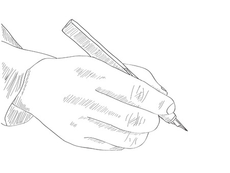 Human Hand Writing Vector Line Sketched Up 向量圖像