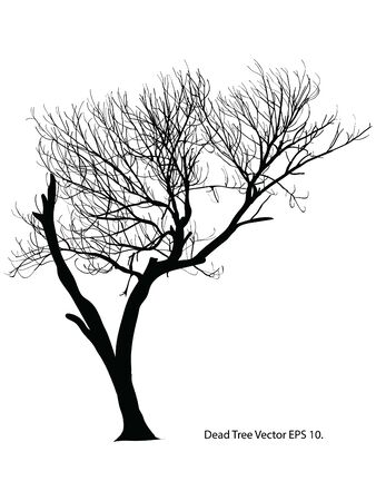 Dead Tree without Leaves Vector Illustration Sketched, 向量圖像
