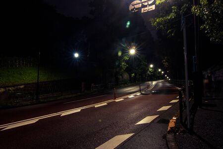 night road: Night road in Tokyo.