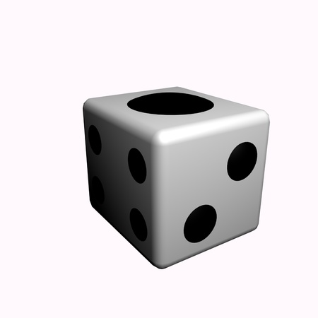A dice with one point.