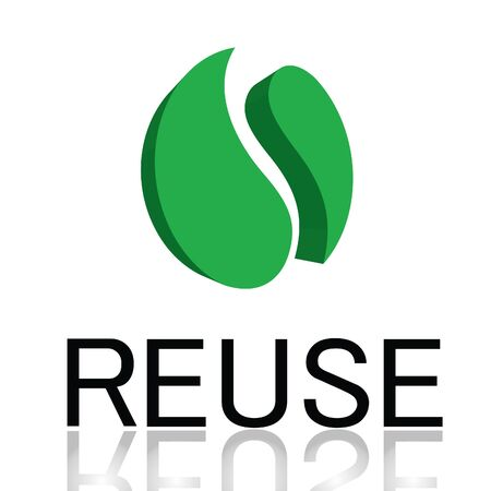 recycle symbol: The reuse symbols.