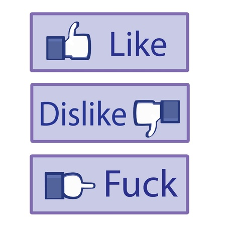 fuck: The icons of like dislike and fuck.