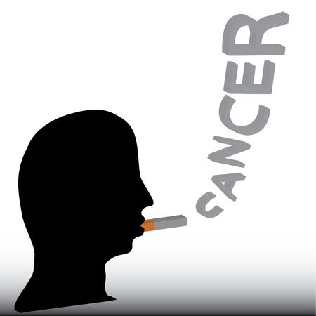 Smoking cause cancer. Illustration