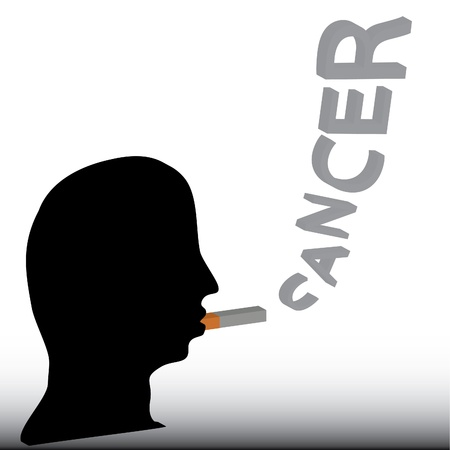 Smoking cause cancer. Vector